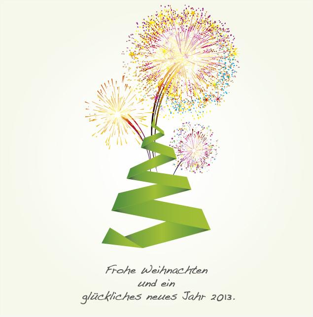 FROHE WEIHNACHTEN UND EIN GLÜCKLICHES NEUES JAHR 2013.