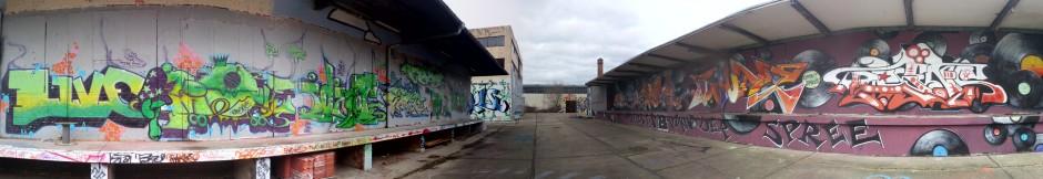 Panorama von der Freiluft-Arena (Teilansicht)