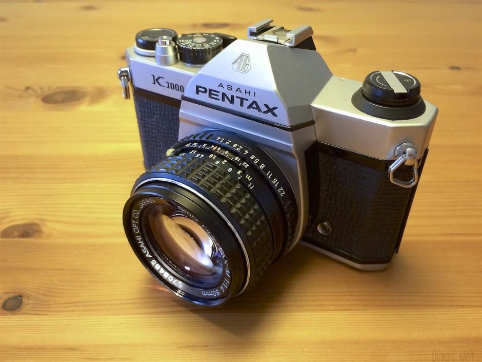 Pentax K1000 mit 50mm f/1.4