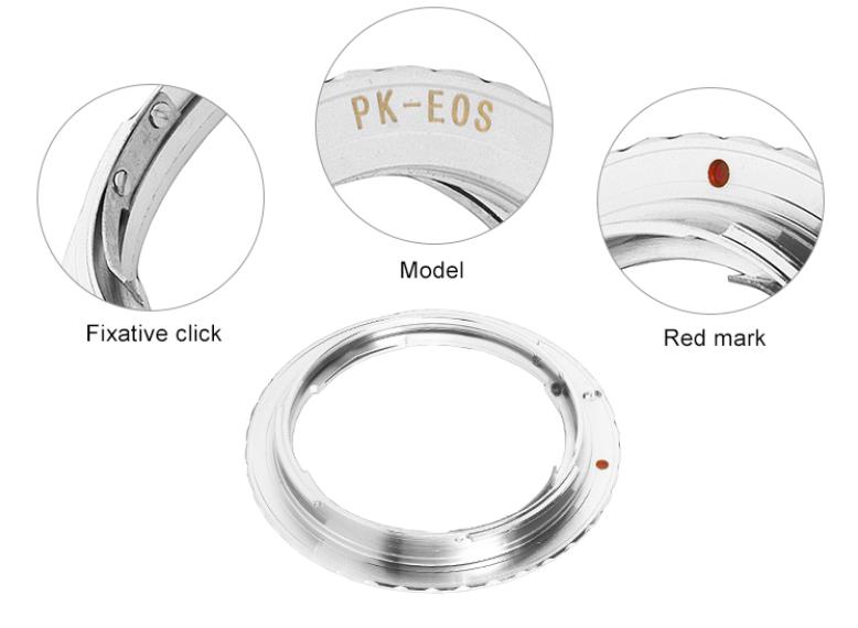 Adapter für Pentax PK K Objektive an Canon EOS Kameras