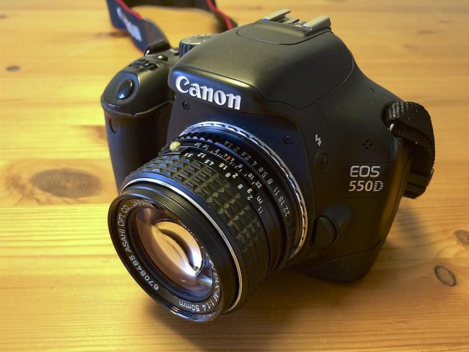 Canon-Eos-500D-mit-Pentax-Adapter 1